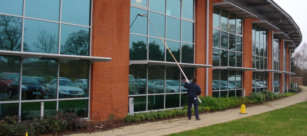 Water-Fed Pole Window Cleaning